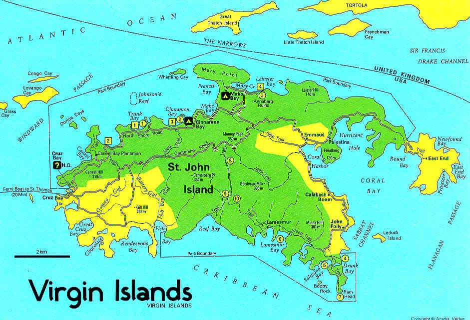 Landkarten Britische Jungferninseln British Virgin